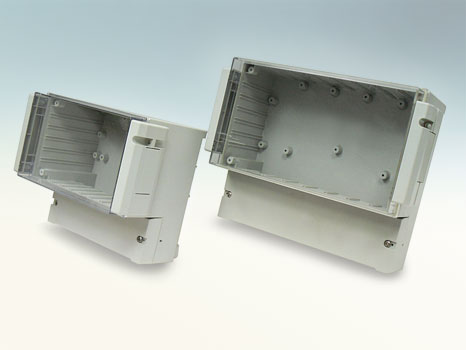 Dual compartment enclosure with hinged cover