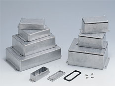 Diecast aluminium enclosures with the flanges BxxxMF