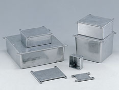 Diecast aluminium enclosures with the flanges G0xxxF