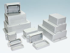 Sealed plastic enclosure with the flanges G2xxMF